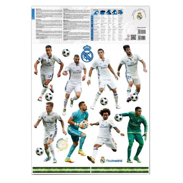Real Madrid muursticker 16 spelers 2 stickervellen