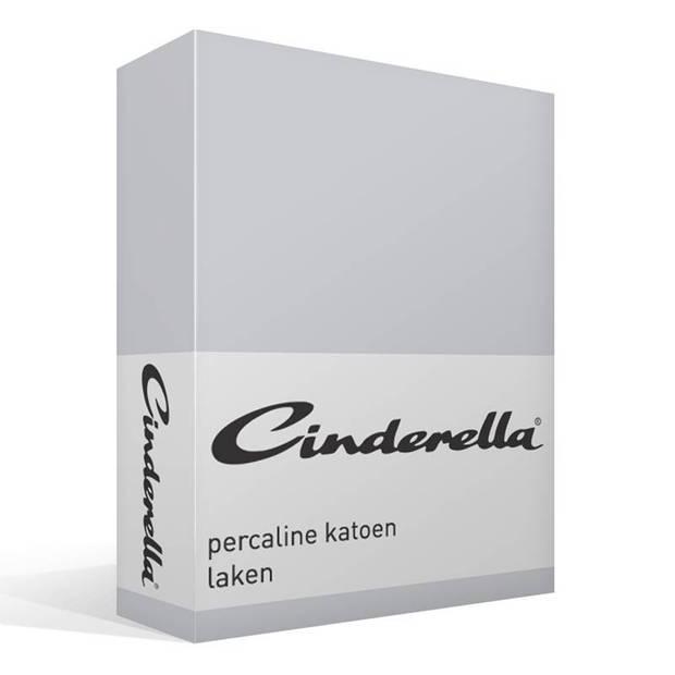 Cinderella Basic percaline katoen laken - 100% percaline katoen - 2-persoons (200x260 cm) - Grijs