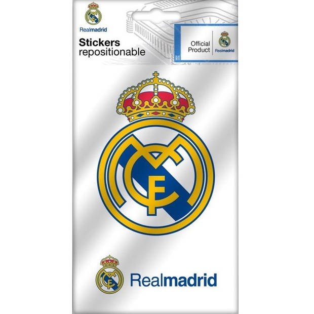 Real Madrid stickers logo 2 stuks