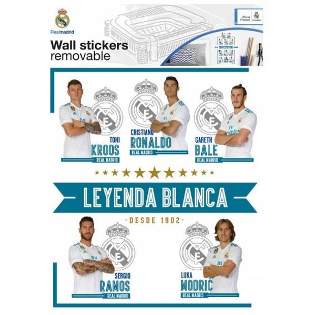 Real Madrid stickers spelers 17 stuks