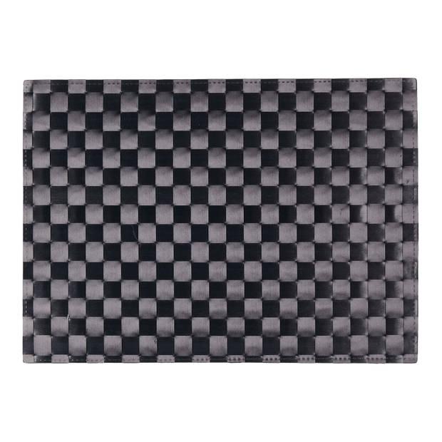 Blokker placemat - zwart - 33 x 45 cm
