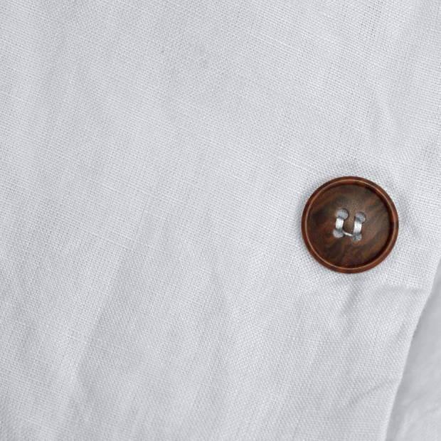 Snoozing Linnen dekbedovertrek - Lits-jumeaux (270x200/220 cm + 2 slopen) - Linnen / Percal katoen - Silver Grey