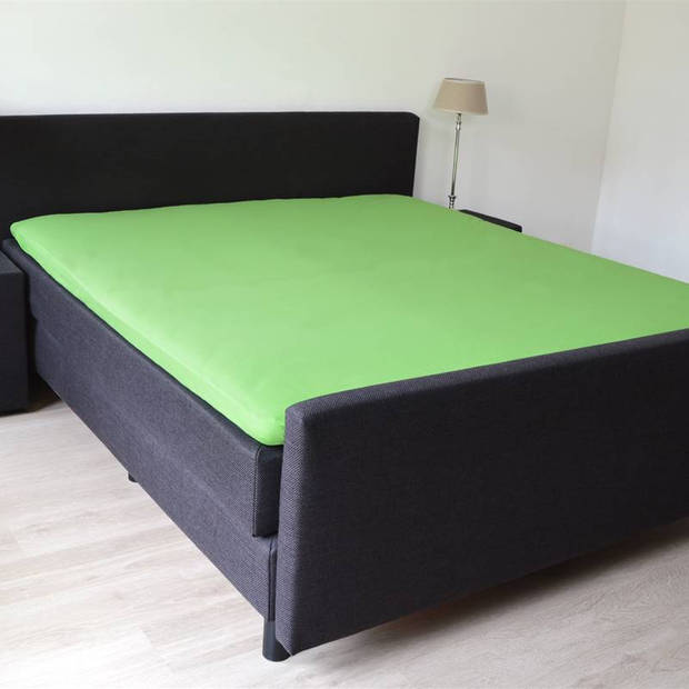 Snoozing - Topper - Hoeslaken - 90x200 cm - Percale katoen - Lime