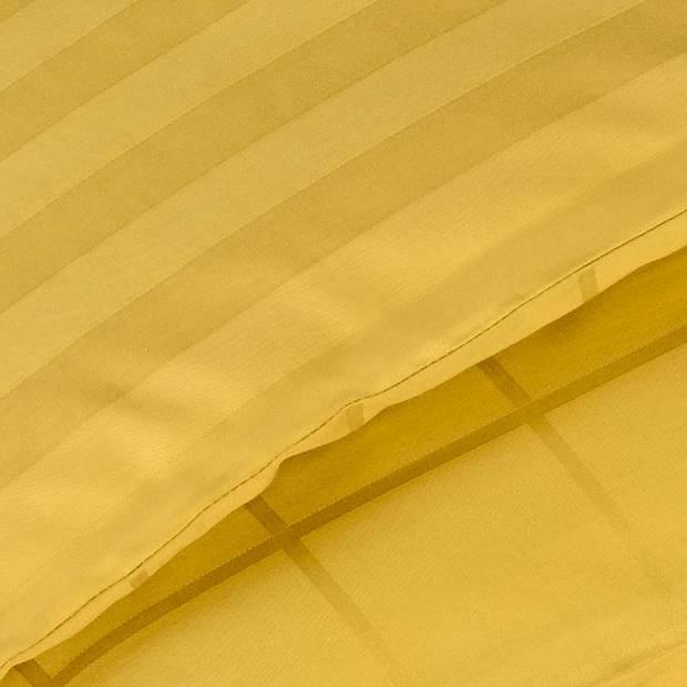 De Witte Lietaer Zygo dekbedovertrek - Lits-jumeaux (260x200/220 cm + 2 slopen) - Katoen satijn - Ochre