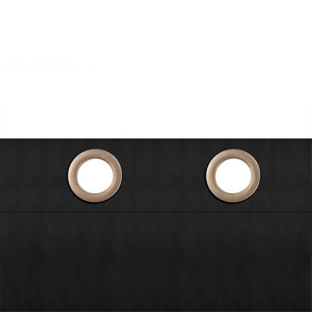 Larson - Luxe verduisterend gordijn met ringen - 150x250 cm - Dark Grey