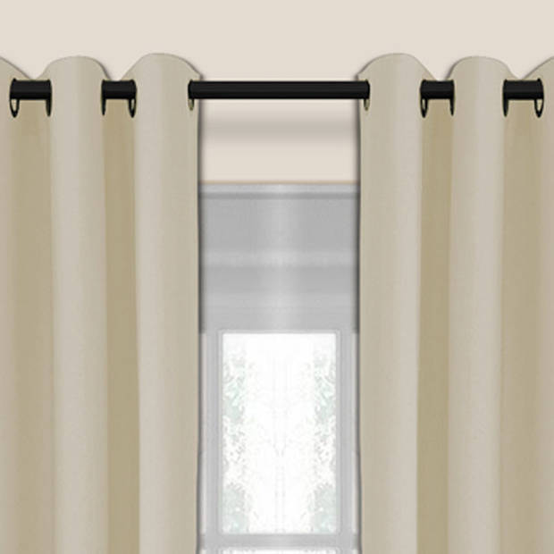 Larson - Luxe verduisterend gordijn met ringen- 150x250 cm - Beige