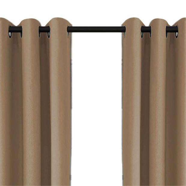 Larson - Luxe verduisterend gordijn met ringen- 300x250 cm - Dark Taupe