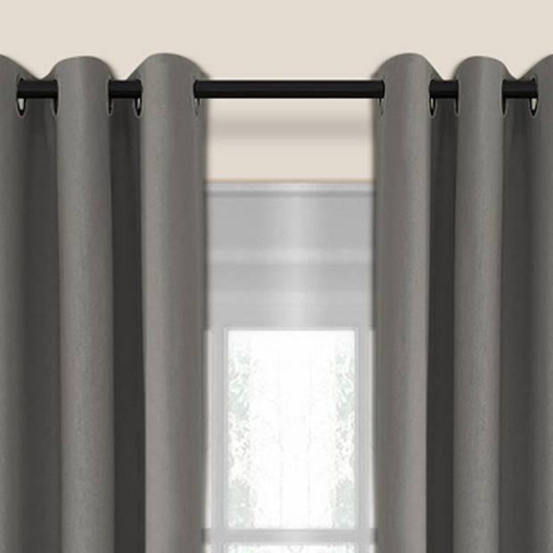 Larson - Luxe verduisterend gordijn met ringen- 150x250 cm - Grey