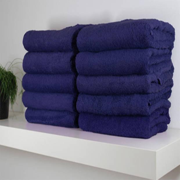 Hotel handdoek - set van 6 stuks - 50x100 cm - Donkerblauw