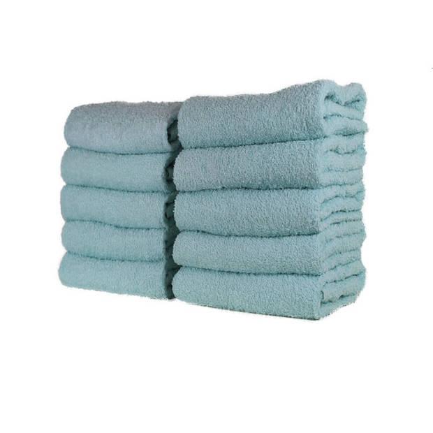 Hotel handdoek - set van 6 stuks - 50x100 cm - Licht aqua