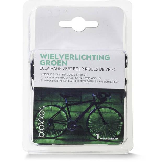 Blokker wielverlichting set - groen