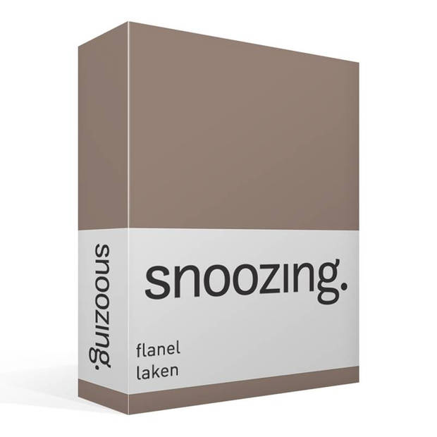Snoozing - Flanel - Laken - Eenpersoons - 150x260 - Taupe