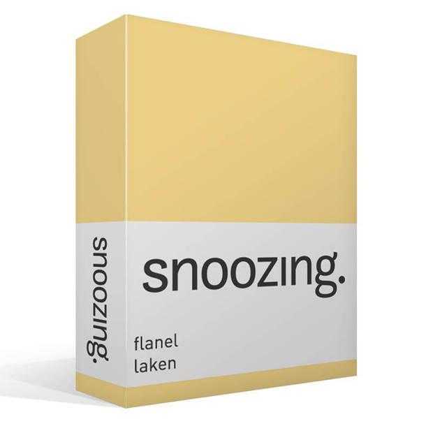 Snoozing - Flanel - Laken - Lits-jumeaux - 280x300 - Geel