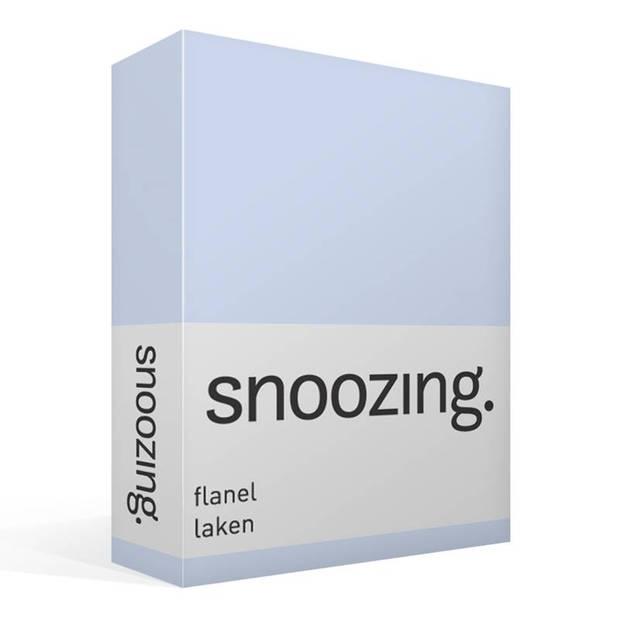 Snoozing - Flanel - Laken - Tweepersoons - 200x260 - Hemel