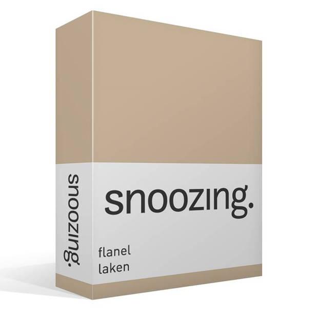 Snoozing - Flanel - Laken - Tweepersoons - 200x260 - Camel