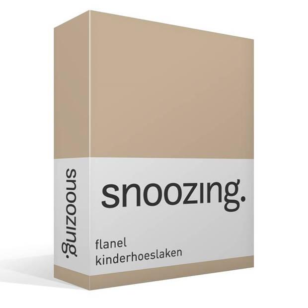 Snoozing - Flanel - Kinderhoeslaken - Junior - 70x140/150 cm - Camel