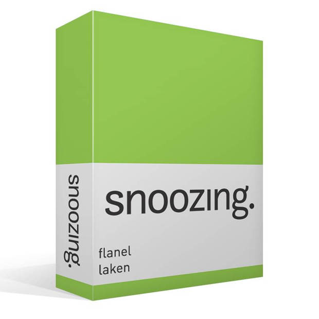 Snoozing - Flanel - Laken - Tweepersoons - 200x260 - Lime