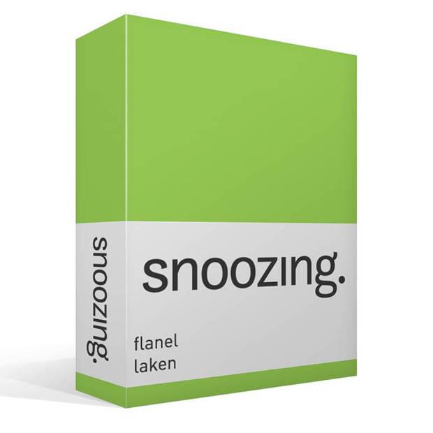 Snoozing - Flanel - Laken - Eenpersoons - 150x260 - Lime
