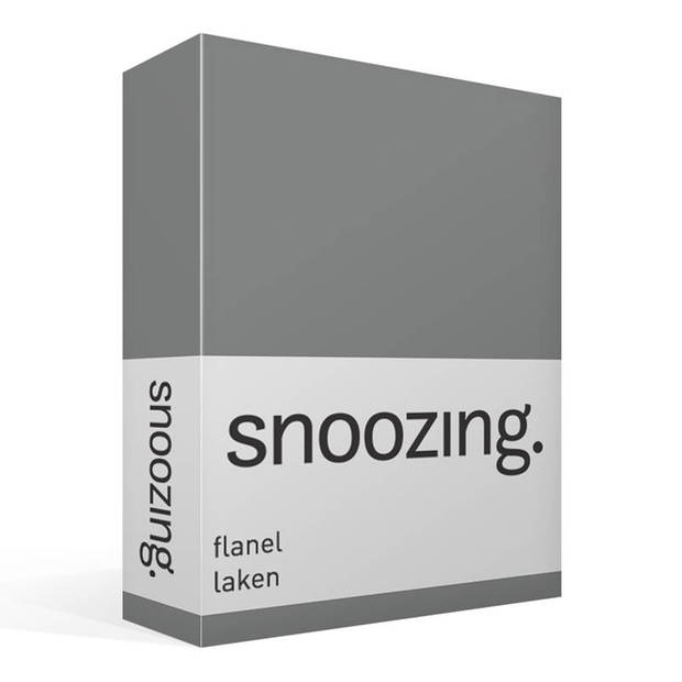 Snoozing - Flanel - Laken - Lits-jumeaux - 240x260 - Antraciet