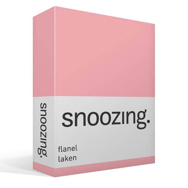Snoozing - Flanel - Laken - Lits-jumeaux - 280x300 - Roze