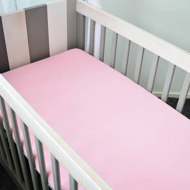 Snoozing - Flanel - Kinderhoeslaken - Junior - 70x140/150 cm - Roze