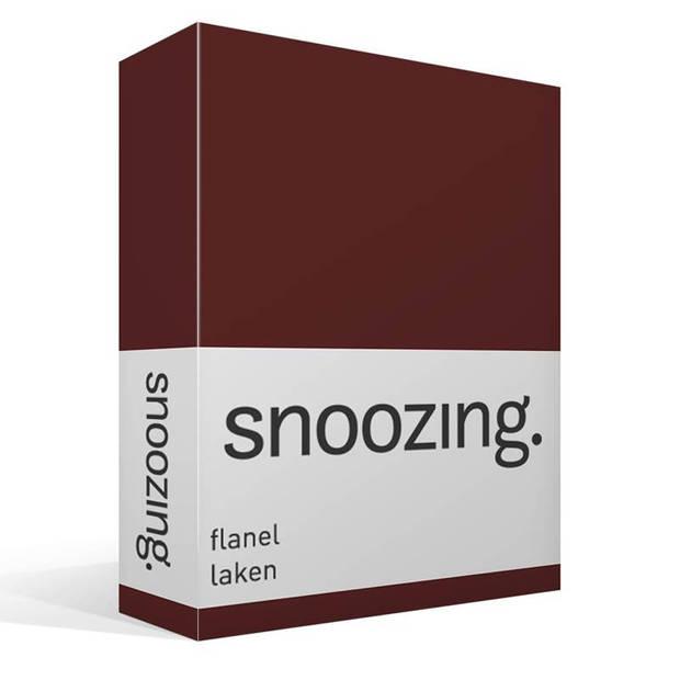 Snoozing - Flanel - Laken - Eenpersoons - 150x260 - Aubergine