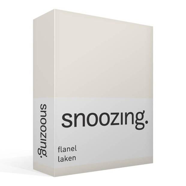 Snoozing - Flanel - Laken - Tweepersoons - 200x260 - Ivoor