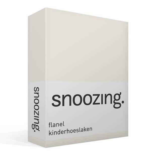 Snoozing - Flanel - Kinderhoeslaken - Junior - 70x140/150 cm - Ivoor