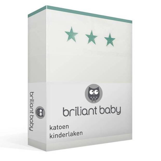 Briljant Baby Mats katoen kinderlaken - 100% katoen - Wiegje (75x100 cm) - Blauw
