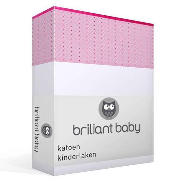 Briljant Baby Joy katoen kinderlaken - 100% katoen - Wiegje (75x100 cm) - Roze