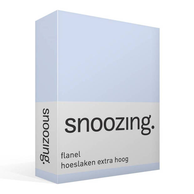 Snoozing - Flanel - Hoeslaken - Extra Hoog - 140x200 - Hemel