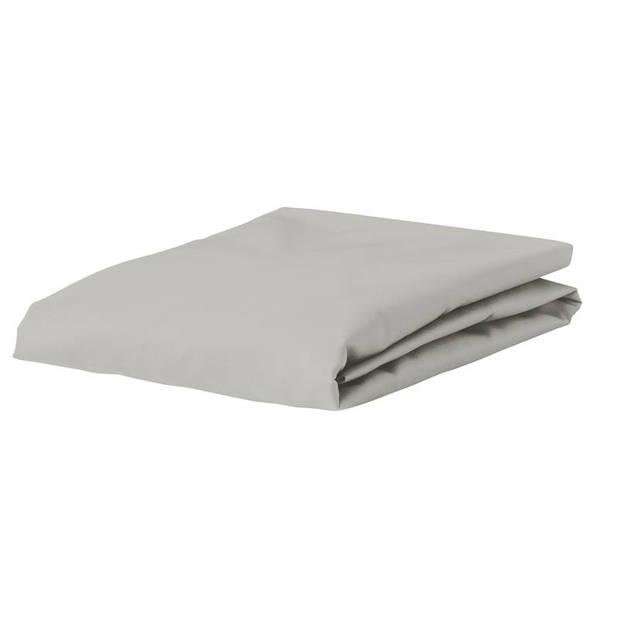 Essenza Premium percale katoen hoeslaken extra hoog - 100% percale katoen - Lits-jumeaux (160x200 cm) - Silver