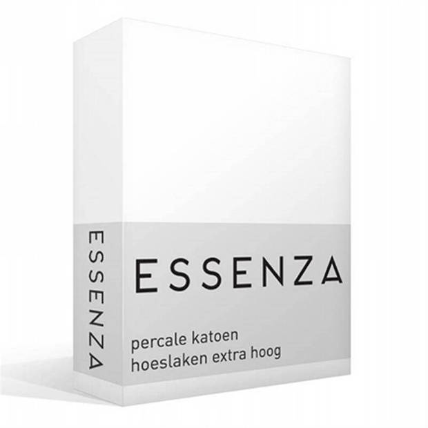 Essenza Premium percale katoen hoeslaken extra hoog - 100% percale katoen - 1-persoons (90x220 cm) - White