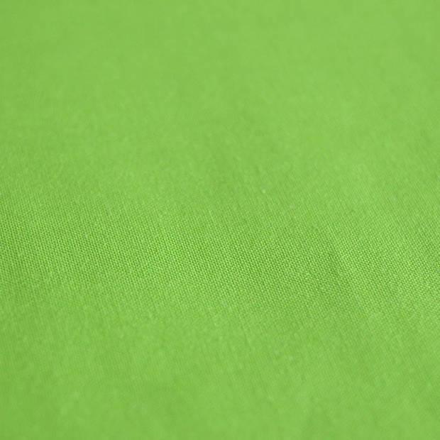 Snoozing - Laken - Katoen - Eenpersoons - 150x260 - Lime