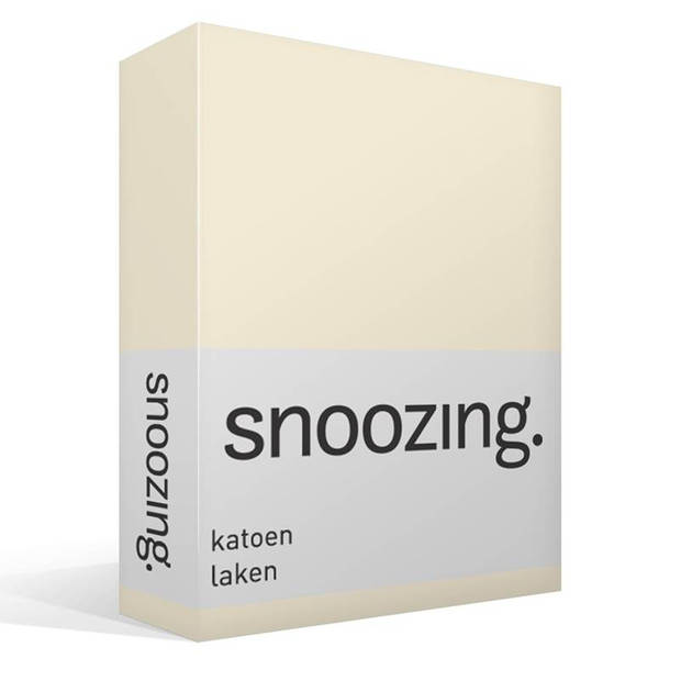 Snoozing - Laken - Katoen - Lits-jumeaux - 280x300 - Ivoor