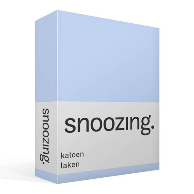 Snoozing - Laken - Katoen - Eenpersoons - 150x260 - Hemel