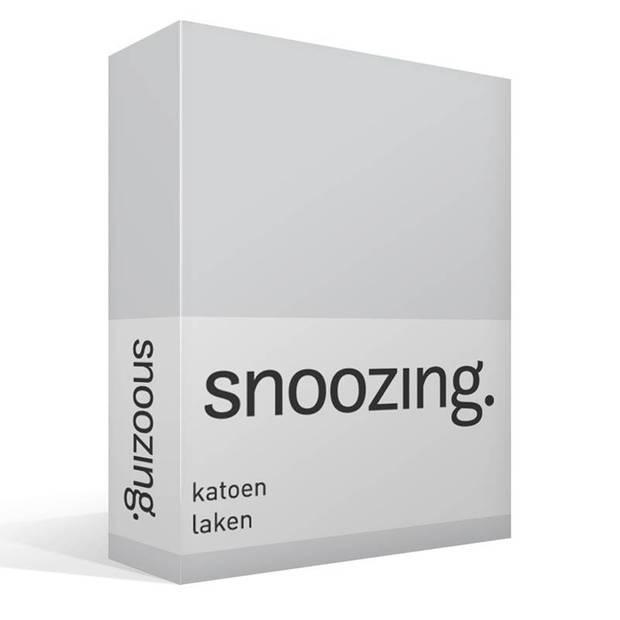 Snoozing - Laken - Katoen - Lits-jumeaux - 240x260 - Grijs