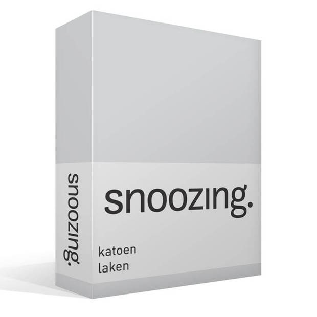 Snoozing - Laken - Katoen - Lits-jumeaux - 280x300 - Grijs