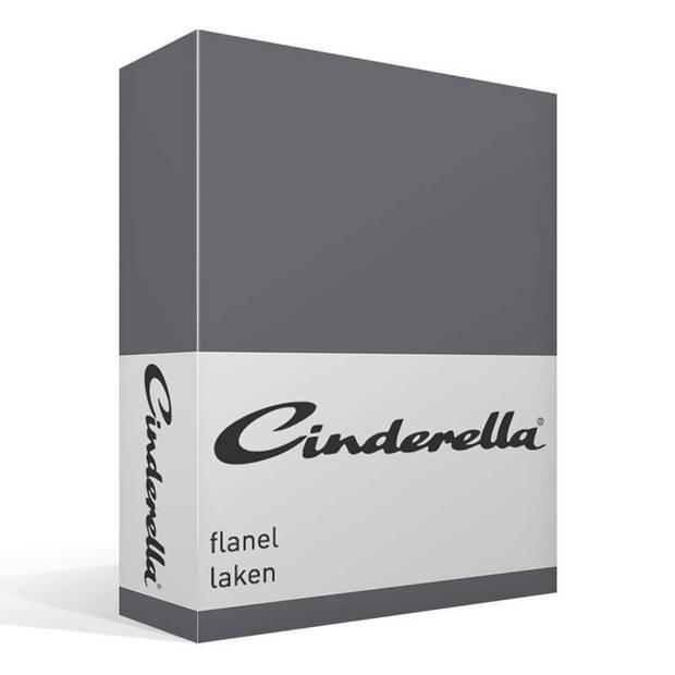 Cinderella flanel laken - 100% geruwde flanel-katoen - 1-persoons (160x260 cm) - Grijs