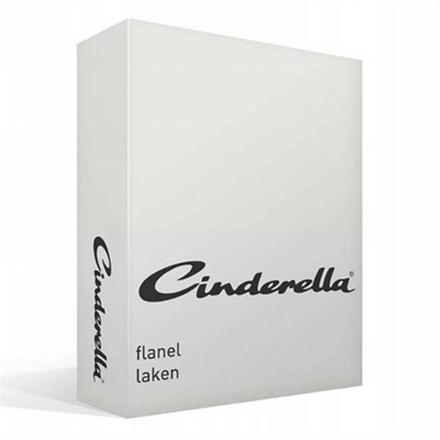 Cinderella flanel laken - 100% geruwde flanel-katoen - 2-persoons (200x270 cm) - Off-White