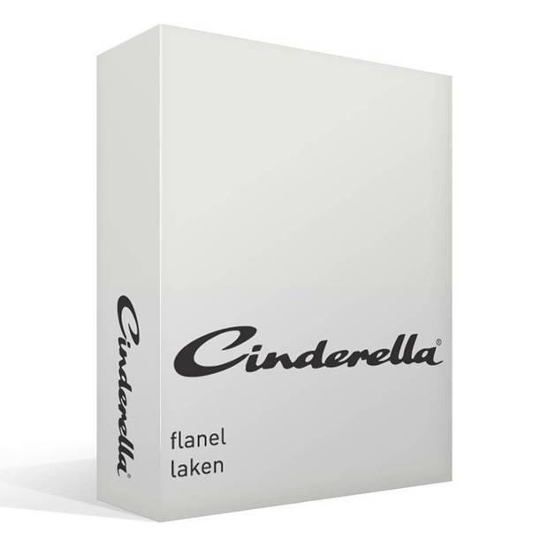 Cinderella flanel laken - 100% geruwde flanel-katoen - 1-persoons (160x260 cm) - Off-White