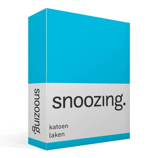 Snoozing - Laken - Katoen - Tweepersoons - 200x260 - Turquoise