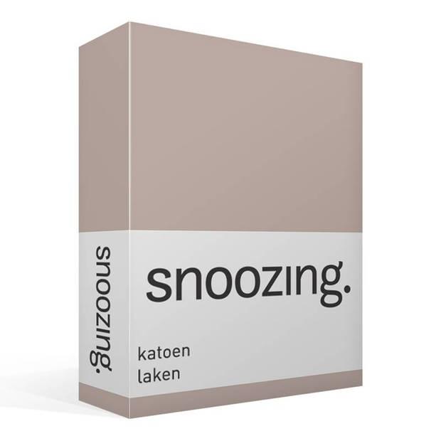 Snoozing - Laken - Katoen - Eenpersoons - 150x260 - Taupe