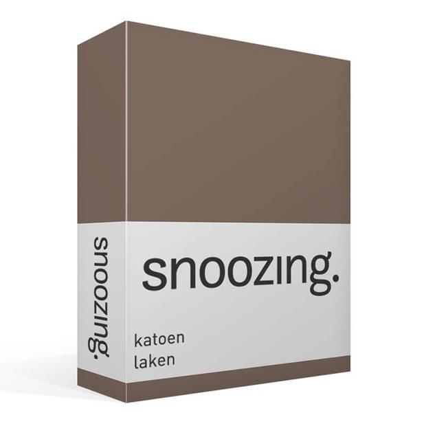 Snoozing - Laken - Katoen - Lits-jumeaux - 280x300 - Bruin