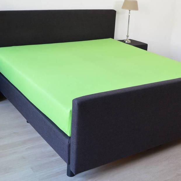 Snoozing - Hoeslaken -80x200 - Percale katoen - Lime
