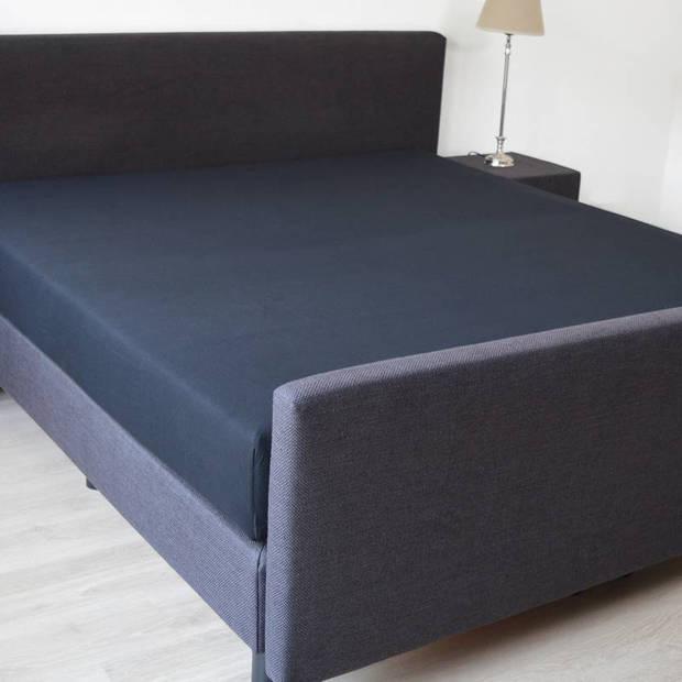 Snoozing - Hoeslaken -80x220 - Percale katoen - Zwart