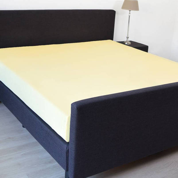Snoozing - Hoeslaken -80x220 - Percale katoen - Geel