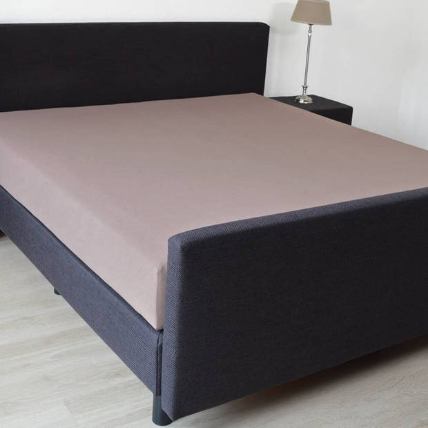 Snoozing - Hoeslaken -80x200 - Percale katoen - Taupe
