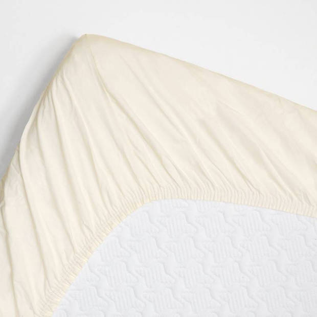Snoozing - Topper - Hoeslaken - 80x200 cm - Percale katoen - Ivoor