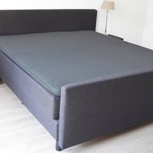 Snoozing - Topper - Hoeslaken - 80x220 cm - Percale katoen - Antraciet